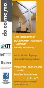 13th International DOCOMOMO Technology Seminar