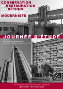 """journée d'etude: """"Conservation et restauration des bétons du patrimoine moderniste"""""""
