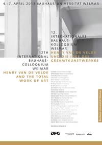 12th int bauhaus colloquium hvdv2013