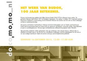 20151016_docomomo NL seminar Dudok Hilversum