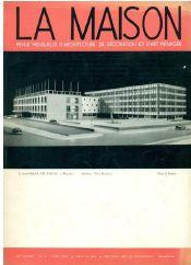 Tijdschrift La Maison nr.6 1956 met op De cover de maquette van het stadhuis