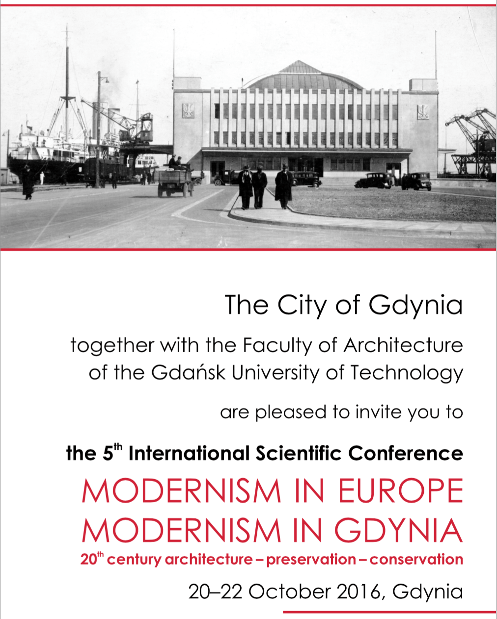 201610_Modernism in Europe – Modernism in Gdynia