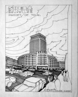 Rue Ravenstein 48-70 et Cantersteen 39-55, Bruxelles, Shell Building (© Fondation CIVA Stichting/AAM, Brussels)