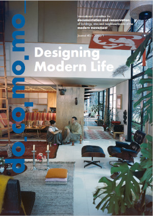 Docomomo Journal 46 (2012/01) stands for interior design identified as a key conservation issue for modern living.